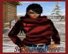 Burgendy n Blk Sweater