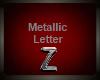 Silver Metallic Letter Z