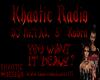 Khaotic Radio Poster