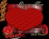 Rug or floor heart