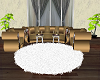 Round White Rug