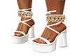 white plat heels
