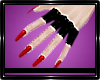 Pvc Gloves Red Nails