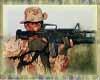 Soldier Firing weapon