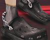 crocs + chains