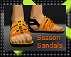 x!Season Orange Sandals