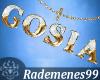 Gold necklace Gosia