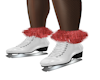 Red Fur  Ice Skates