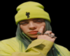 Billie Eilish Cutout + Black Background