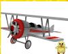 !! Red & White Biplane