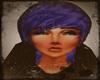 Purple-blue beanie- hair