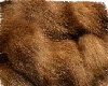 brown fur rug