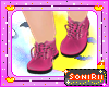 KID PINK ANKLE BOOTS