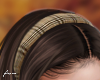 f. beige plaid hairband