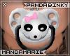 ♡M Panda Binky W/B