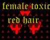female red toxic hair