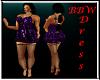 BBW Purple Rose Dress