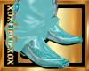 [L] Aqua cowboy Boots M