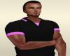 Black BG Pink Polo