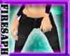 [F] Black skinny jeans