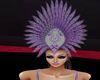 grey an purple headdress