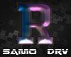 R Letter Colored Drv