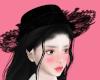 lace black hat