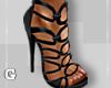 Black Cutout Heels
