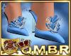 QMBR Heels Shimmer Blue