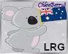 Aussie Koala Sticker Lrg