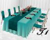 Wedding Main Table Teal