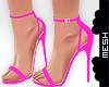 ! Strappy Pink Heels