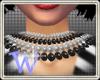 *W* Black White Beads