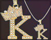 Gold Chain K Letter Men