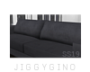 1B| Suede Couch D.Gray