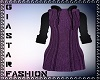 HoodieSweater Dress-Purp