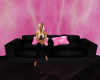 [AM]Black and Pink Sofa
