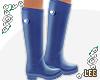 ! Blue Rain Boots
