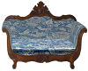 Antique Blue Love Seat