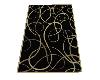BLACK RUG GOLD TRIM