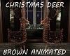 Christmas Deer Brown Ani