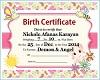Nickole Birth Cert.