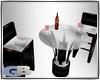bartable w chairs white