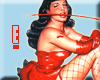 Betty in Red Fishnet