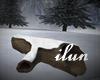 Winter Log Seat