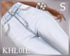 K light blue jeans S