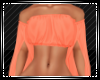 Orange Open Sleeve Top