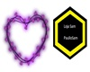 Purple light heart