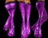 Purple Floral Flares