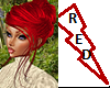 Classic Red Updo